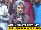 "Video : Proposed ""Civil Disobedience With A Smile"": Arundhati Roy On NPR Name Row"