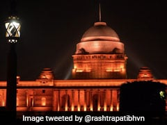 Rashtrapati Bhavan Lit Up In Orange For A Cause. See Pictures