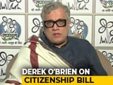 "Video : ""12 Opposition Parties Will Debunk BJP's Falsehoods On Citizenship Bill"": Derek O'Brien"
