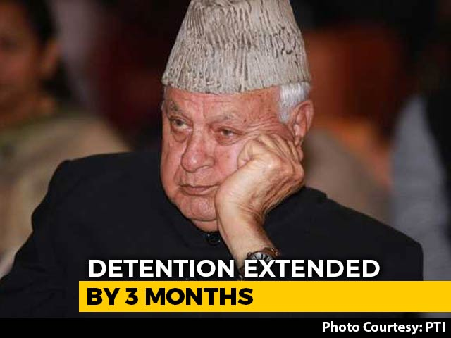 Video : Farooq Abdullah's Detention Under Public Safety Act Extended For 3 Months