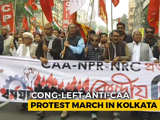 Video: Congress, Left March Against Citizenship Law In Kolkata