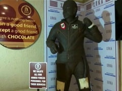 Puducherry Cafe Makes 321 Kg Chocolate Statue In Honour Of Abhinandan Varthaman