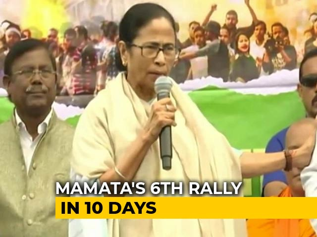 "Video : ""Everyone's Fight Against Citizenship Act"", Says Mamata Banerjee"