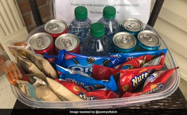 US Woman Leaves Food, Drinks Outside Home For Deliverymen. Video Goes Viral