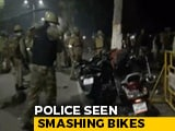 Video : Cops Seen Smashing Bikes After Protests Erupt At Aligarh University