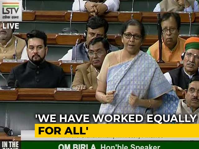 "Video : ""We Listen To Criticism,"" Says Nirmala Sitharaman After Rahul Bajaj's Remarks"
