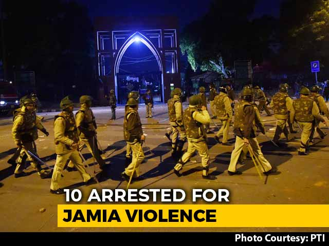 Video : 10 Arrested For Jamia Violence, None Are Students