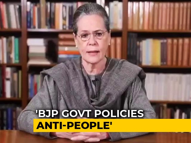 Video: 'Brute Force To Suppress Dissent': Sonia Gandhi On Citizenship Protests