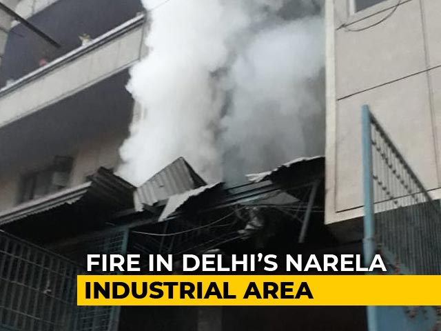 Video : Fire breaks Out At 2 factories In Delhi's Narela