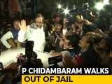 Video : P Chidambaram, Granted Bail In INX Case, Walks Out Of Jail After 106 Days
