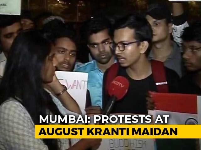 Video : 20,000 Join Protests Against CAA At Mumbai's August Kranti Maidan