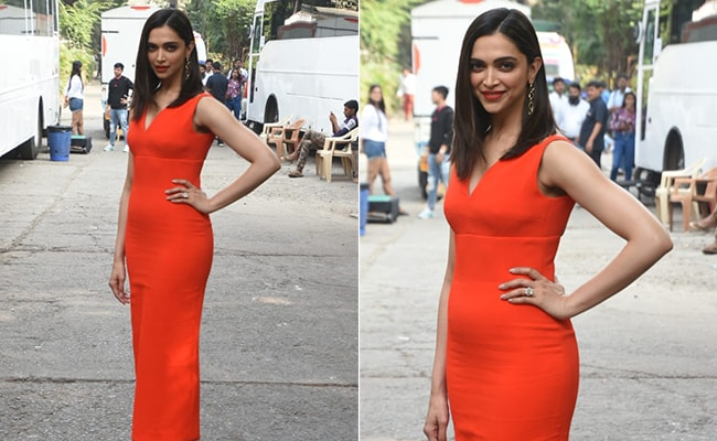 Deepika Padukone spotted on the sets of a reality show