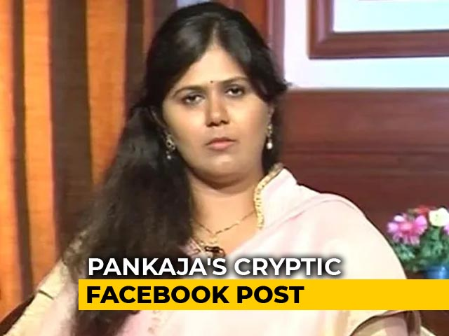 "Video : ""Need To Think"": BJP's Pankaja Munde's Facebook Post, Twitter Bio Fuel Buzz"