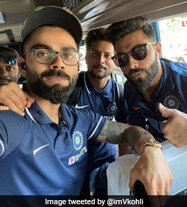 Team India Reaches Chennai For First ODI, Virat Kohli Tweets Picture