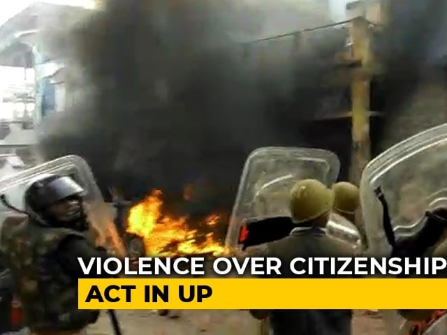 Video : Violence Over Citizenship Act In Parts Of UP, Cops Fire Tear Gas