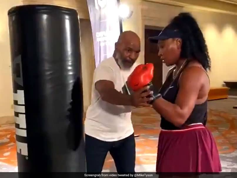 """GOAT"" Serena Williams Impresses Mike Tyson With Her Boxing Skills. Watch Video"