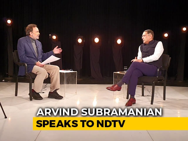 "Video : ""Not Just Any Ordinary Economic Slowdown,"" Arvind Subramanian Tells Prannoy Roy"