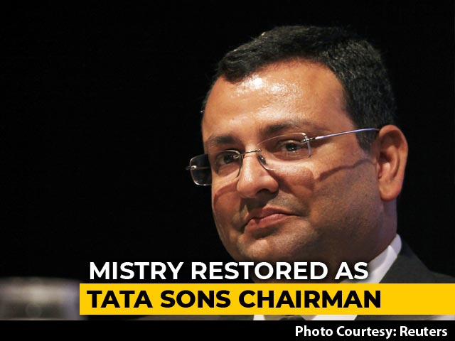 Video : Cyrus Mistry Restored As Tata Chairman 3 Years After Sacking