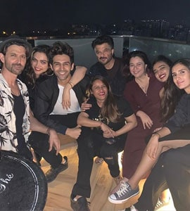 Pic: The One With Deepika, Hrithik And Kartik At A Big Fat House Party