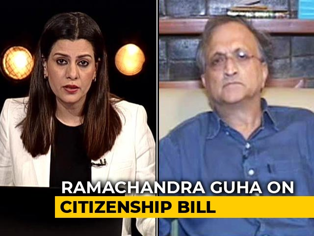 "Video : ""Citizenship Bill Will Reconfigure The Republic To Make It More Of A Hindu-Pakistan"": Ramachandra Guha"