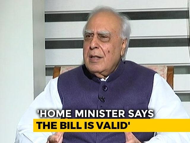 "Video : ""Thank God Amit Shah Not A Judge"": Kapil Sibal On Citizenship Bill"