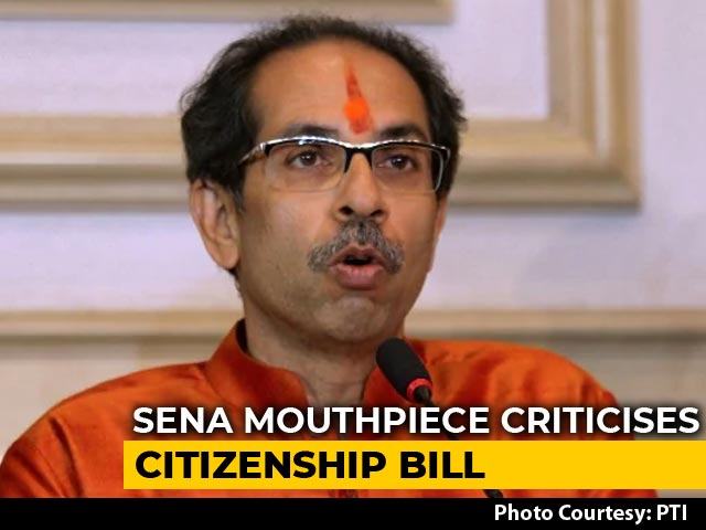 Video : 'Invisible Partition Of Hindus, Muslims?': Sena Attacks Citizenship Bill