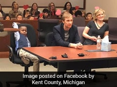 5-Year-Old Boy Was To Be Adopted In US Courtroom, He Invited His Entire Class