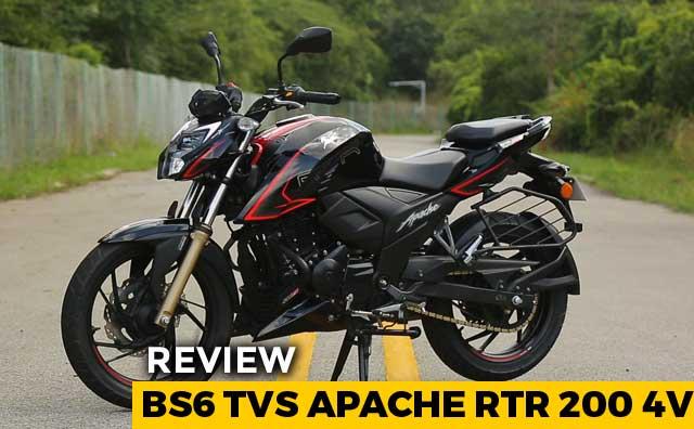 2019 BS6 TVS Apache RTR 200 4V