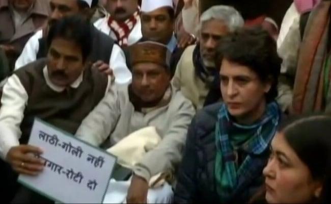 With Rahul Gandhi In South Korea, Sister Priyanka Leads Delhi Sit-In