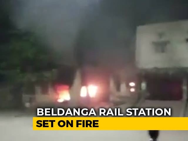 Video : Railway Station Set On Fire In Bengal By Citizenship Act Protesters