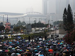"""Hong Kongers Will Never Stop"": 1,000 Gather For Rain-Soaked Hong Kong Rally"