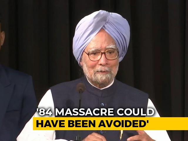 """Video : """"Had IK Gujral's Advice Been Heeded..."""": Manmohan Singh On '84 Riots"""