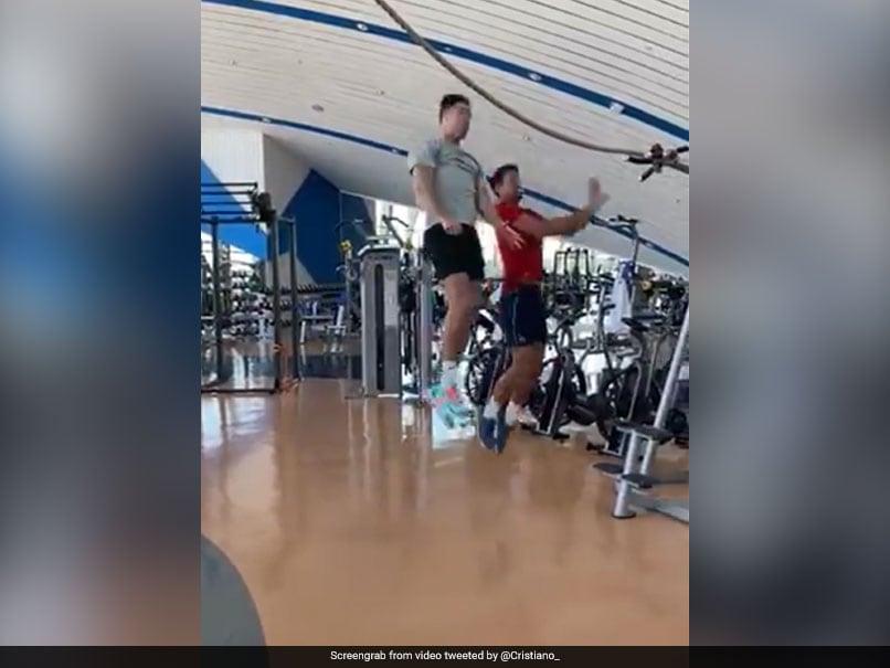 "Cristiano Ronaldo Teaches Novak Djokovic ""How To Jump"" In Fun Video"