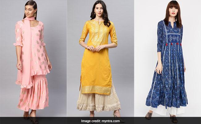 Myntra Year End Fashion Sale 2019: 14 Fabulous <i>Kurtas</i> And <i>Shararas</i> At Up To 50% Off