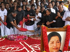 AIADMK Leaders Pay Tributes At Jayalalithaa Memorial
