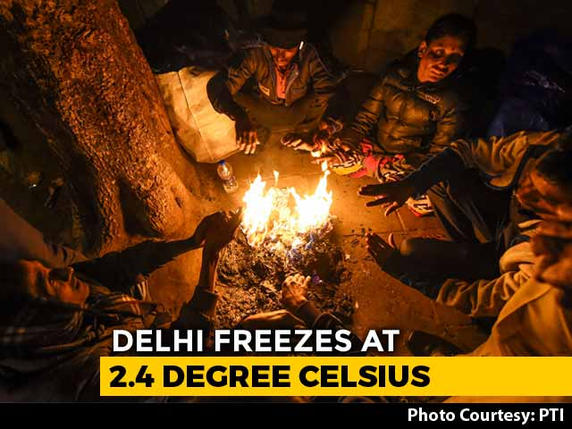 "Video : Weather Office's ""Red"" Warning Over Severe Cold Wave In Delhi"