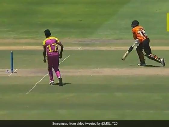 रन भागते हुए गिरा बल्लेबाज और दर्द से कराहने लगा, फिर गेंदबाज ने किया कुछ ऐसा- देखें Viral Video