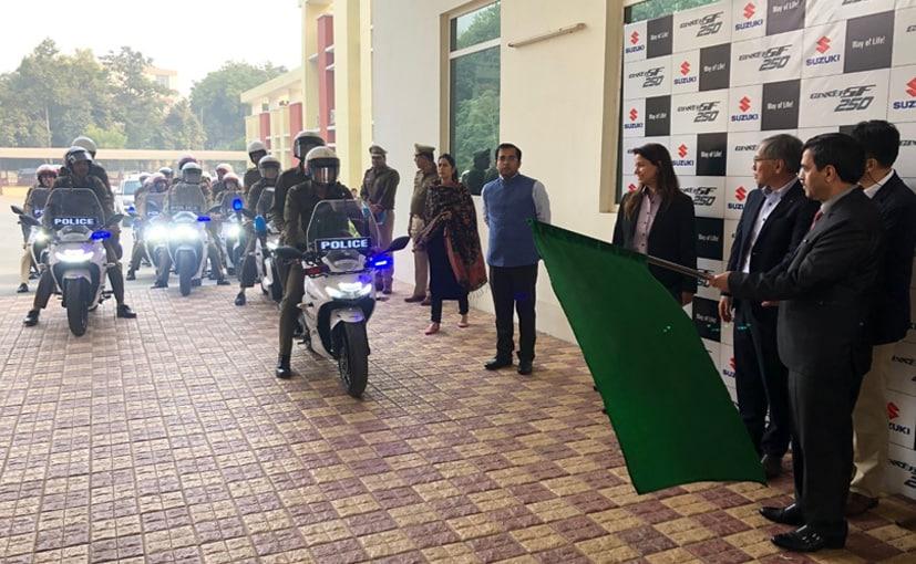 Gurugram Police Adds 10 Suzuki Gixxer SF 250 Motorcycles To Their Squad
