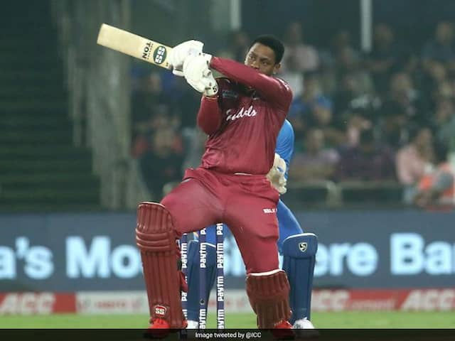 IND vs WI 1st ODI:Shimron Hetmyer hits a six on to stadium's roof, Watch VIDEO