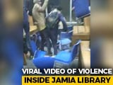 Video : On Camera, Jamia Students Take Cover In Library As Police Fire Tear Gas