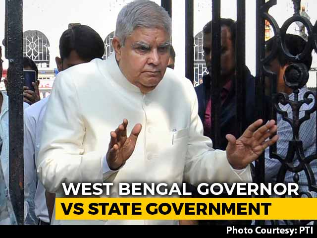"Video : ""Government Working At Pace Of Bullock Cart"": Bengal Vs Governor, Again"
