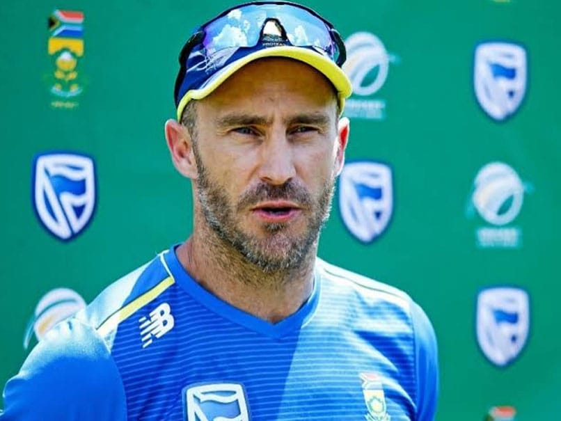 Faf Du Plessis Unimpressed With BCCI President Sourav Gangulys Idea Of Four-Nation Tournament