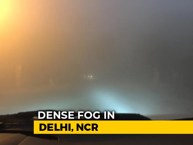 "Video : Fog In Delhi Hits Rail Traffic, Flights Diverted, Air Quality ""Severe"""