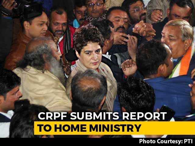 Video : Priyanka Gandhi Vadra's Security Personnel Deny Breach, Say She Violated Protocol