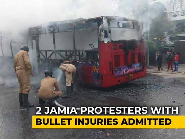 Video : 2 Protesters In Hospital With Bullet Wounds After Jamia Clashes: Official