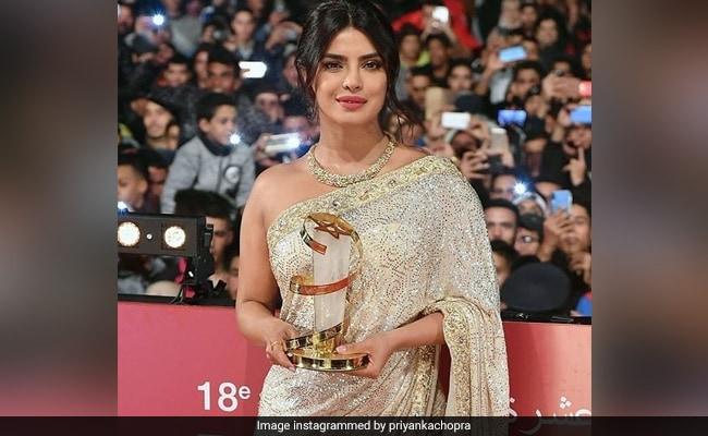 Priyanka arrives in a desi look at Marrakech International Film Festival
