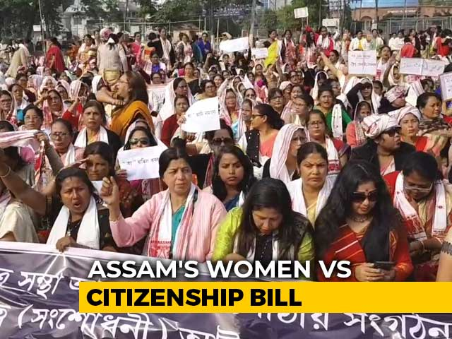 "Video : ""Want Peace, Not Migrants"": Thousands Of Women Protest Across Assam"