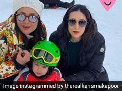 तैमूर अली खान ने स्विटजरलैंड में बर्फ पर खूब की मस्ती, Photos हुईं वायरल