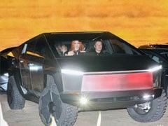 Elon Musk Drives The Tesla Cybertruck Around Los Angeles; Bangs Into A Traffic Pylon