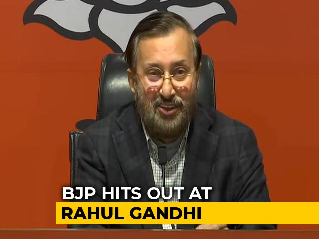 "Video : ""If There Was Category Of Liar Of The Year..."": BJP Attacks Rahul Gandhi"